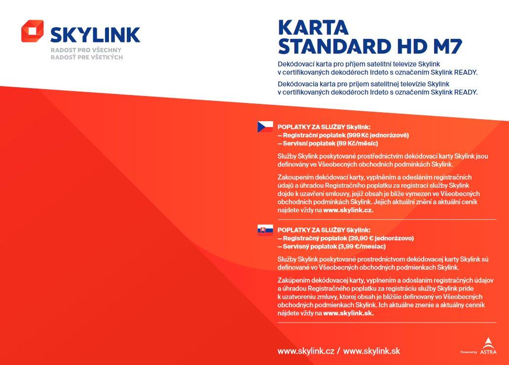 Skylink Dekodovaci Karta Standard Hd M7 Irdeto Satelitni Technika