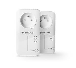 Zircon PL 500, powerline adapter, internet transmission via sockets, SET